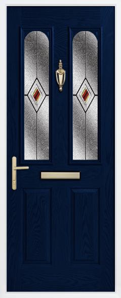 Door glazing in red