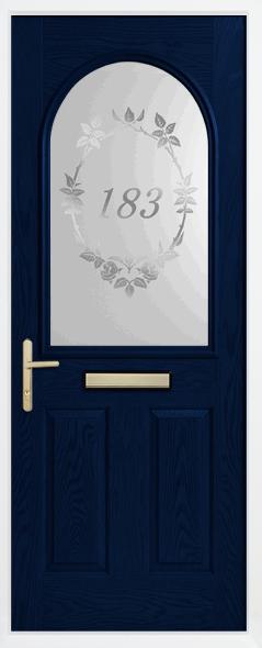 House number on door glazing