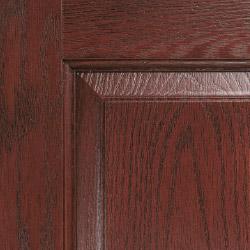 Composite door colour dark wood