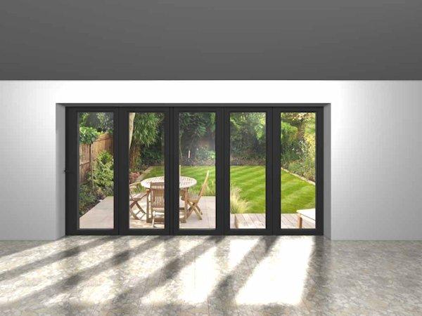 5 panel bi fold door