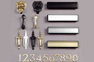 Door numbers, knockers and letterboxes