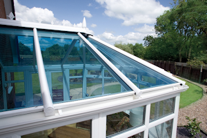 Conservatory Roof blue glass
