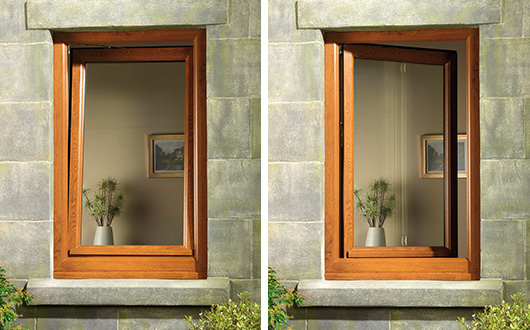 Window tilted and turned